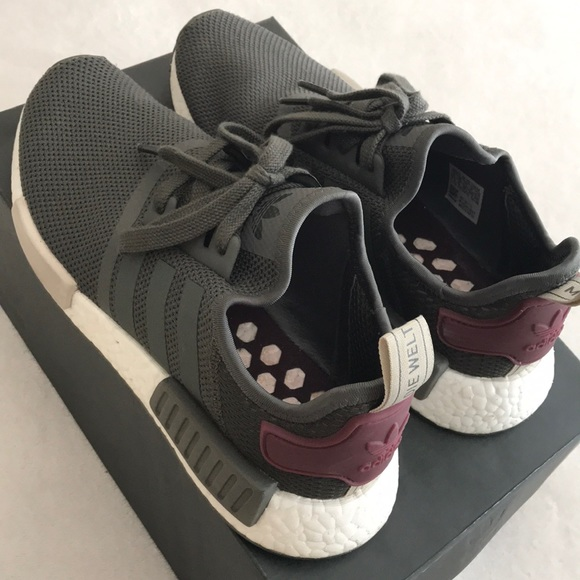 "7c634019b adidas Shoes - NMD R1 ""Olive Maroon"""